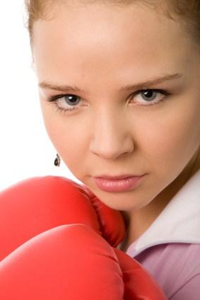 Für Frauen Kickboxen